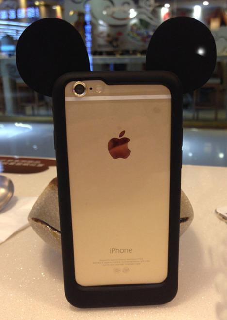 米奇耳朵边框 苹果手机壳卡通硅胶套6plus保护壳4s可爱