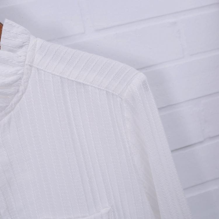 【花边领子白衬衫】-衣服-服饰鞋包