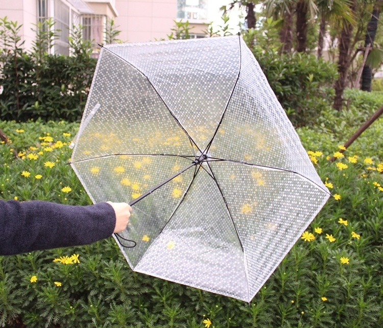 折叠雨伞黑色个性立体