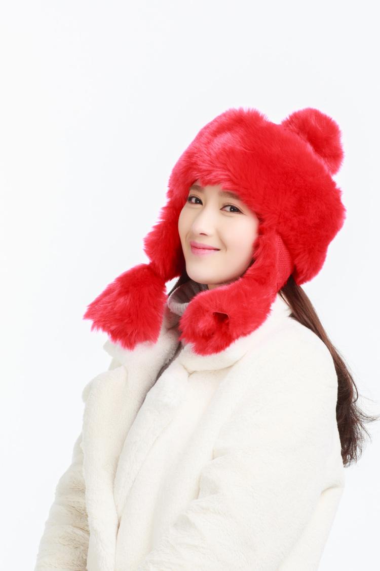 【秋冬季加厚保暖蒙古公主纯色雷锋帽子】-配饰-配饰