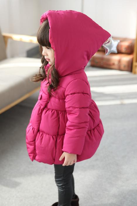 【丫逗】童装女童儿童冬装棉服棉袄棉衣外套