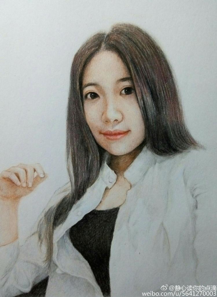 彩铅手绘肖像