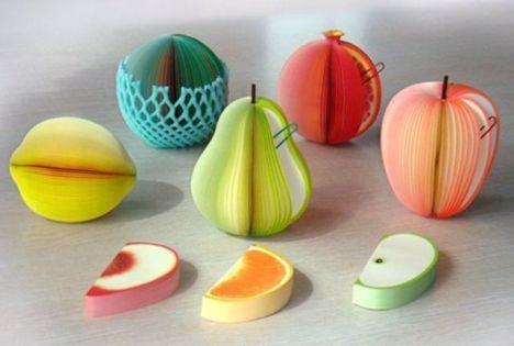 创意韩国水果便条纸 可爱彩色水果便签本可撕告示留言条记事