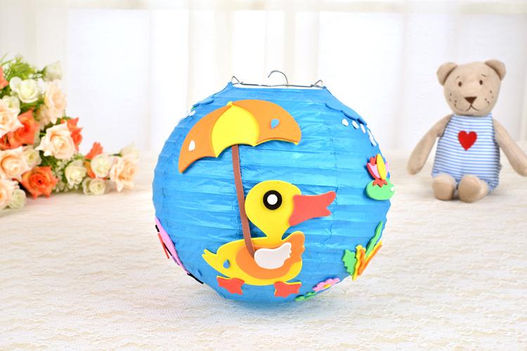 【动物儿童手工卡通灯笼diy制作材料包圣诞元旦春节