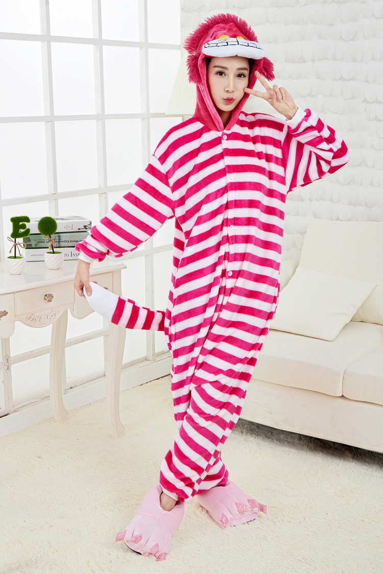 秋冬女款动物睡衣龙猫动物连体睡衣家居服