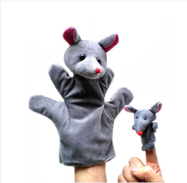 【手偶娃娃指套小动物动漫婴儿手指玩偶儿童宝宝安抚