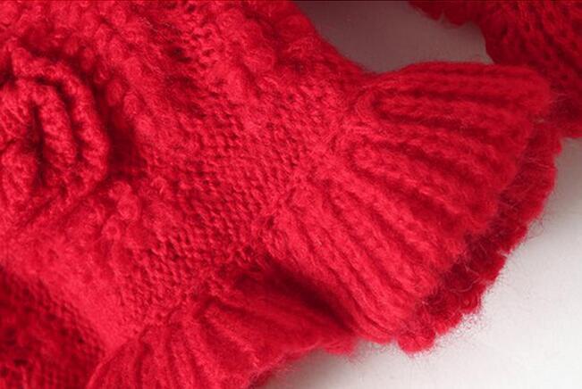 【立体玫瑰花朵荷叶边针织毛衣】-衣服-服饰鞋包