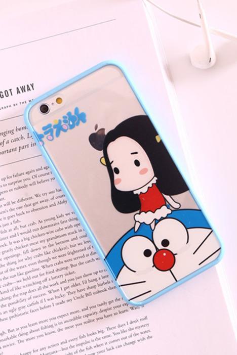 日本可爱动漫蓝胖子手机壳