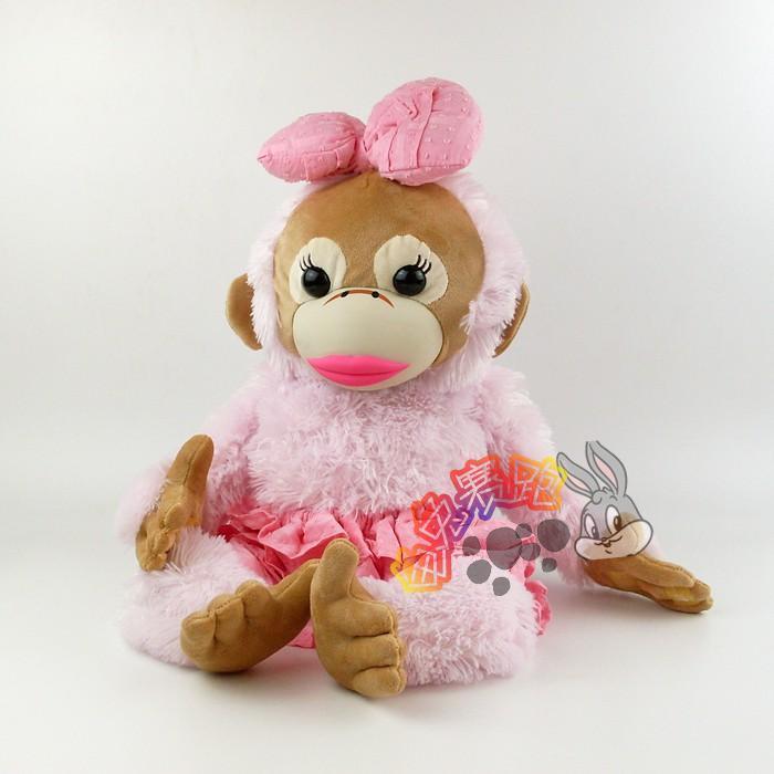 babycoco猴子毛绒公仔性感大嘴巴猴子公仔圣诞节礼物娃娃