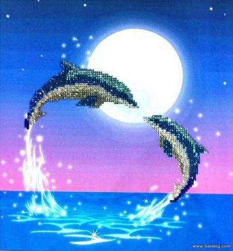 海豚手工制作图片