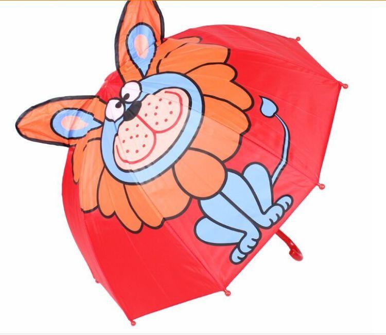 【韩版可爱卡通儿童雨伞逼真立体动物耳朵造型手动晴