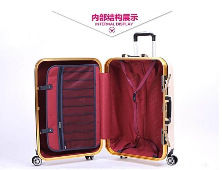 拉杆箱铝框万向轮锁扣学生行李箱包登机箱飞机轮20寸24寸男女
