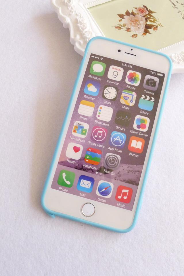 【iphone6s/6p透明磨砂边框手机壳】-无类目-3c数码