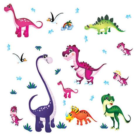 儿童房间幼儿园教室可爱卡通彩色恐龙个性diy