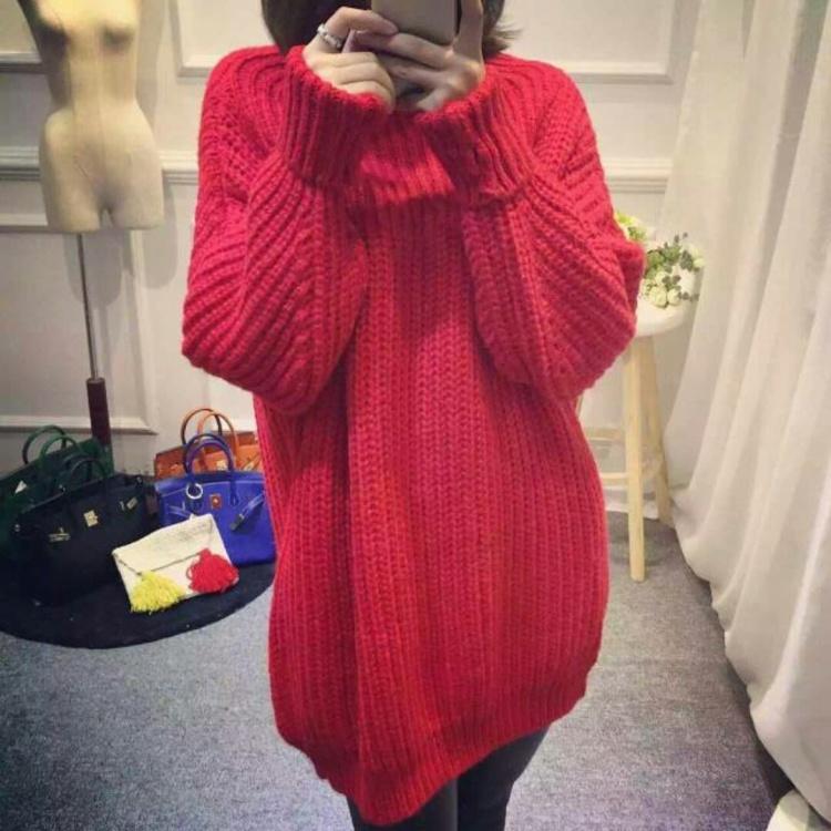 新款【高领毛衣】红色