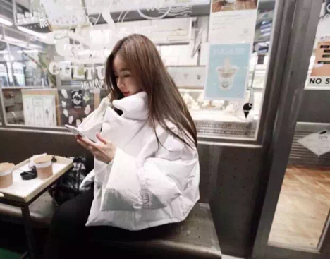 韩国partysu同款棉服
