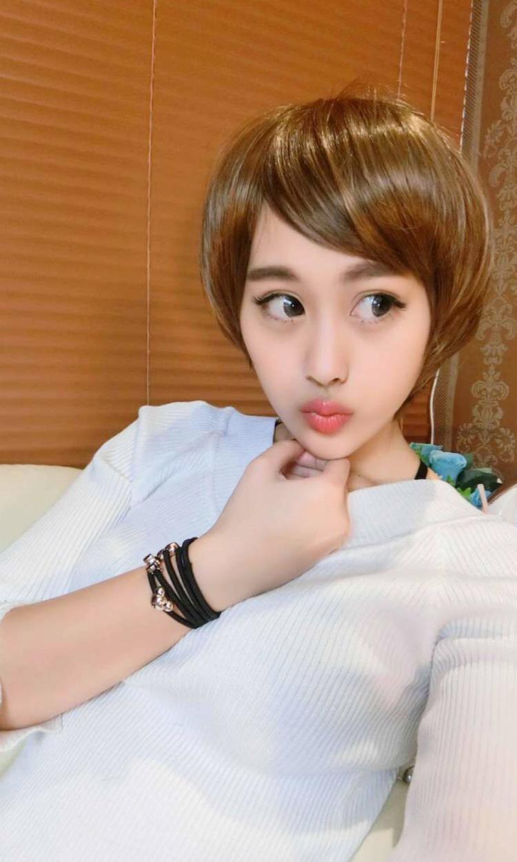 女短发假发时尚挑染短直发假发套bobo头斜刘海短发个性