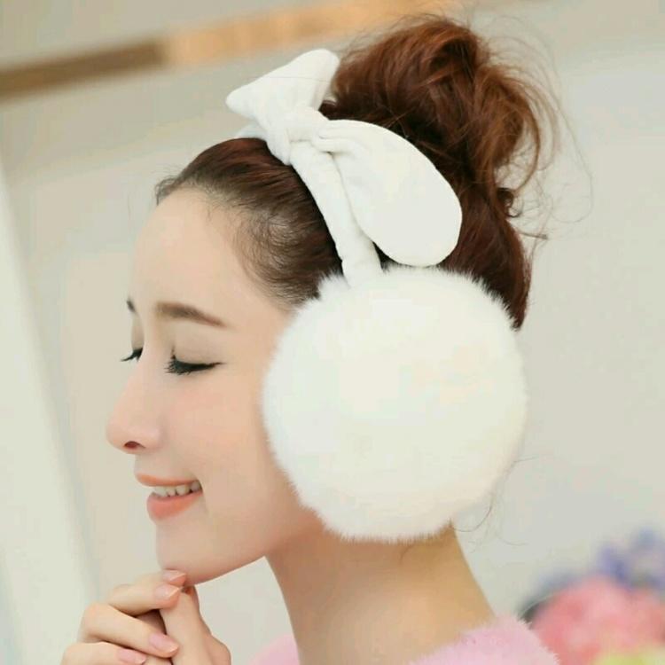 耳套保暖耳罩女冬季可爱兔耳朵蝴蝶结仿兔毛超大耳暖耳包耳捂韩版
