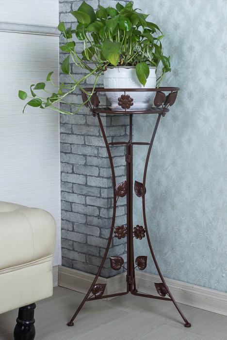 单层欧式室内客厅花卉盆栽架子
