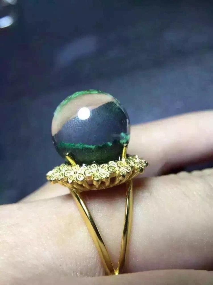 【绿幽灵转运珠戒指】-无类目-配饰