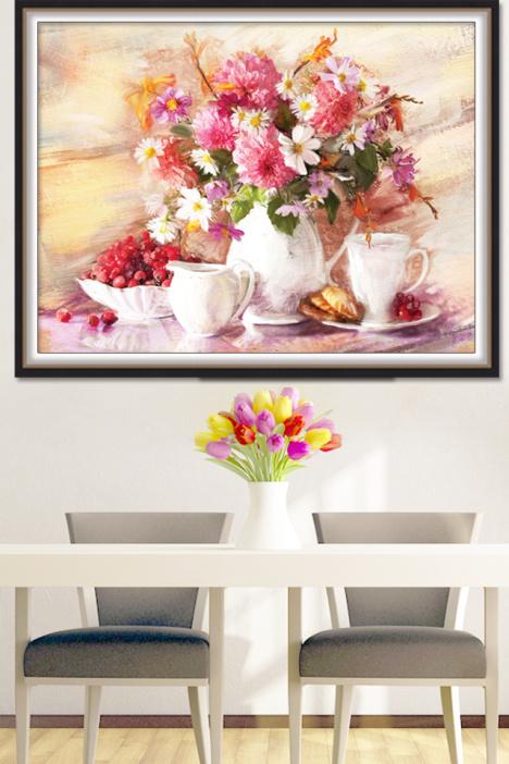 欧式油画花卉