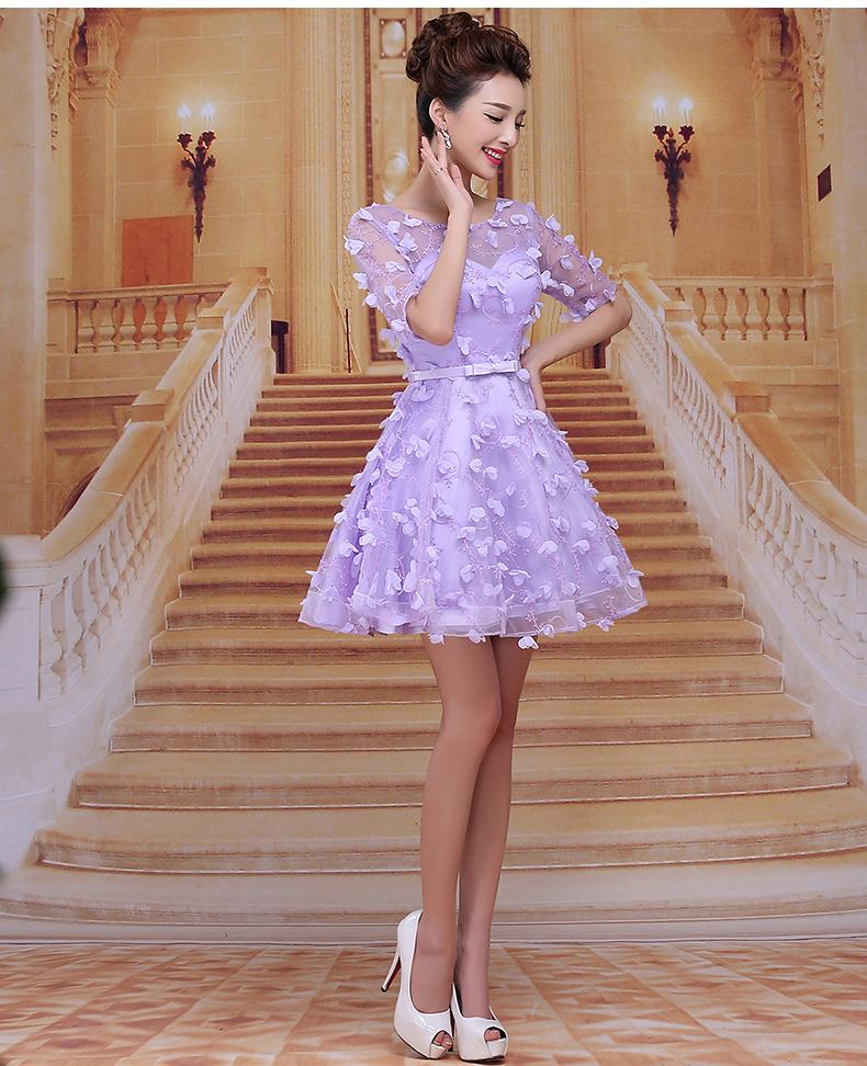 紫色伴娘服搭配图片_紫色伴娘服如何搭配
