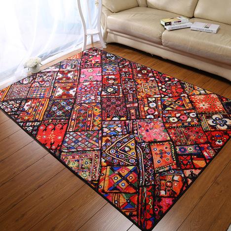 古典民族风地毯卧室/客厅茶几地垫沙发毯子个性中式复古大地毯