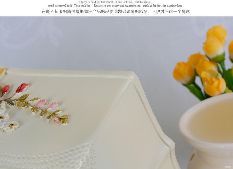 欧式田园/创意维多利亚抽纸盒抽取式纸巾盒手绘浮雕花装饰品包邮
