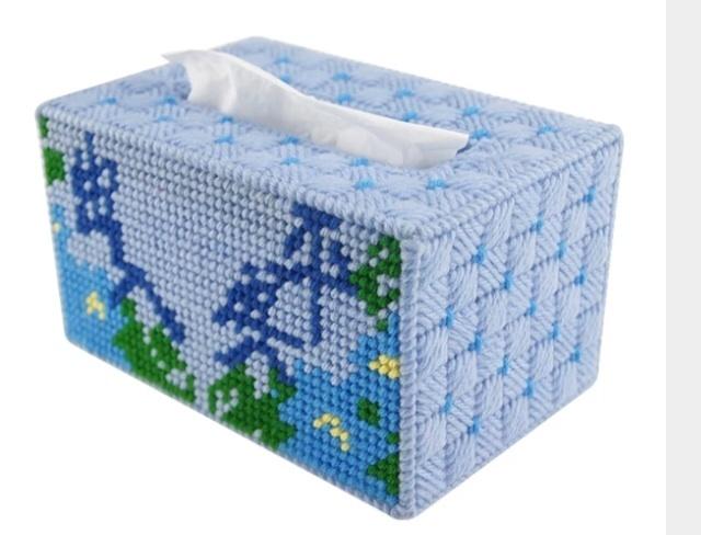 立体绣3d十字绣新款客厅家居手工艺术出入平安抽纸巾