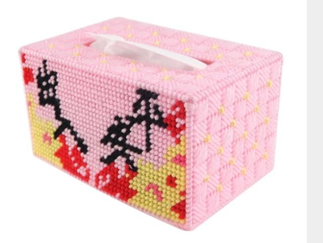 【立体绣3d十字绣新款客厅家居手工艺术出入平安抽盒