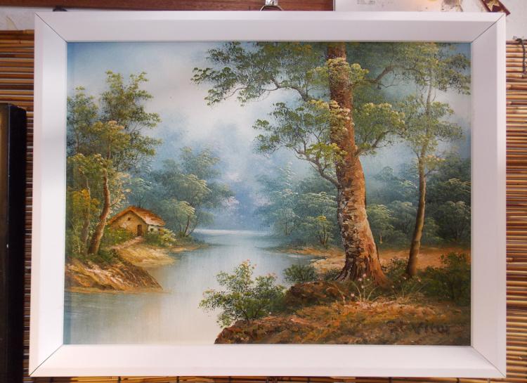 手绘油画 装饰画 乡村风景