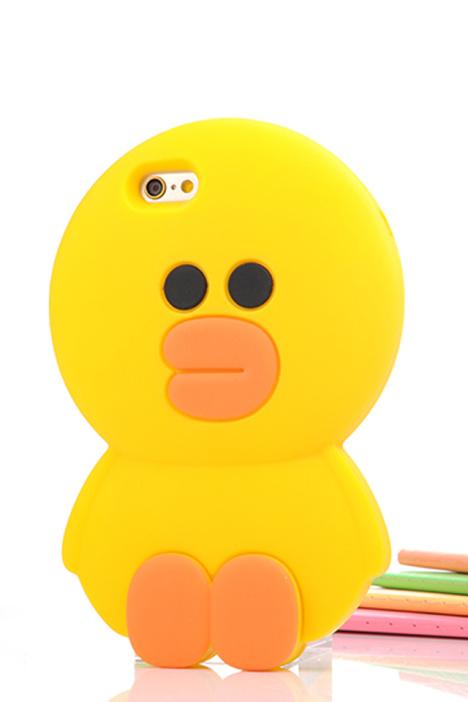 呆萌大黄鸭iphone苹果硅胶手机壳