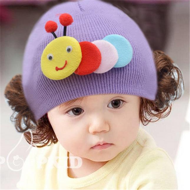 可爱女宝宝假发帽子超萌