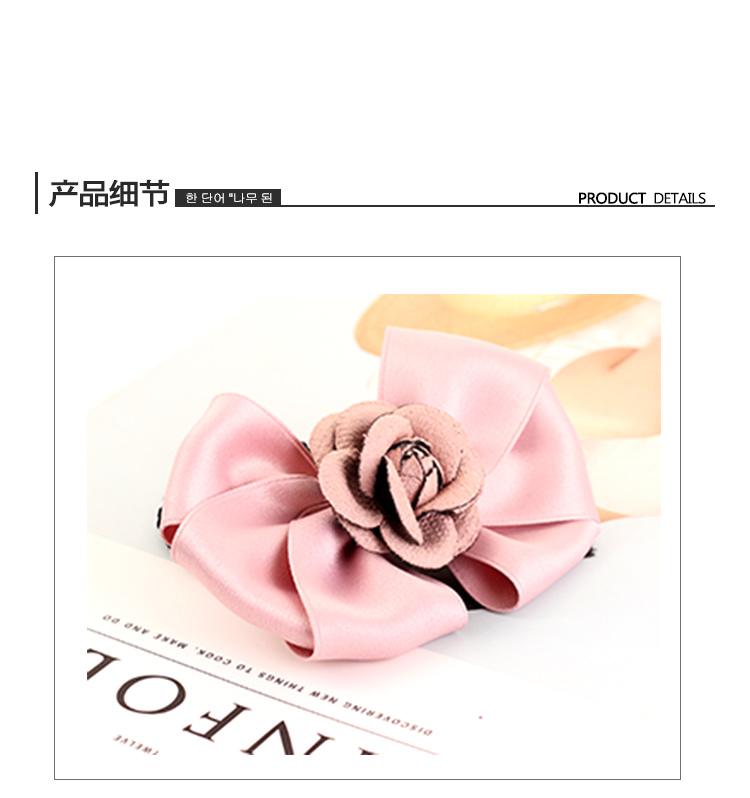 韩版时尚绸带蝴蝶结玫瑰花装饰发圈