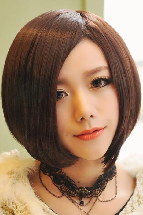 买一送七 明星同款斜分短发中分波波头短发bobo头高温丝假发图片