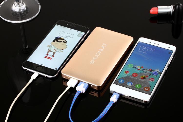 硕诺正品充电宝20000毫安超薄智能手机通用便携可爱移动电源