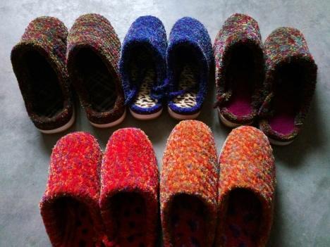 【纯手工毛线拖鞋,钩针钩毛线鞋】-拖鞋