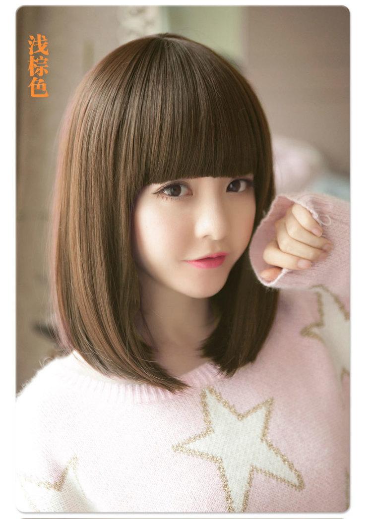 可爱韩国蓬松帅气波波头发型