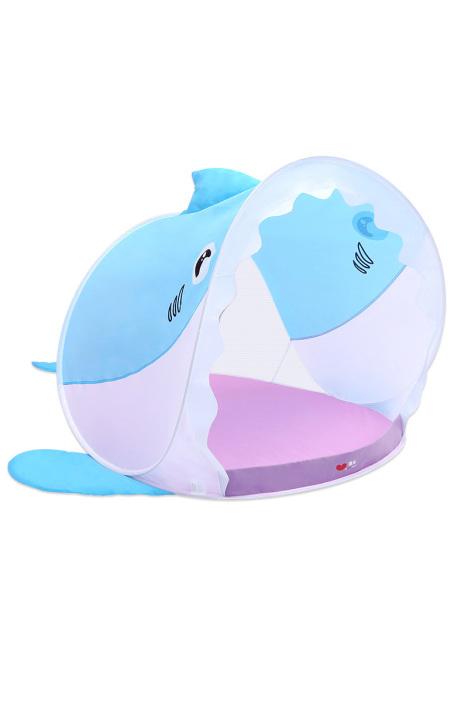 澳乐儿童帐篷室内户外可爱鲨鱼帐篷宝宝波波海洋球池玩具游戏屋