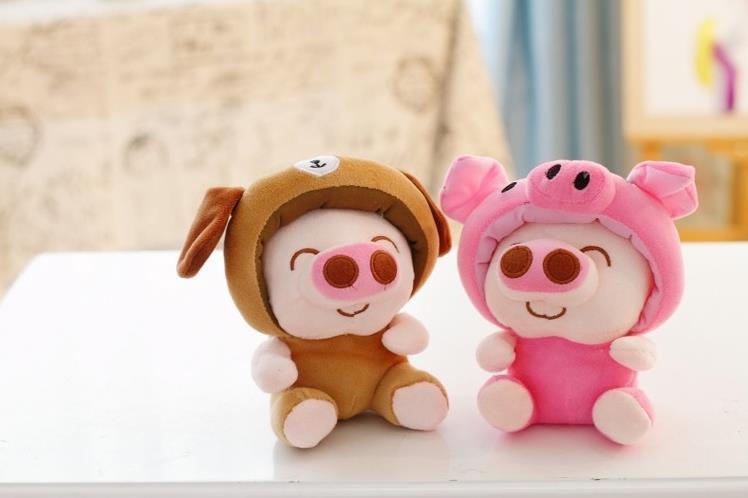 萌萌哒-创意机器猫/麦兜猪十二生肖十二星座毛绒玩具公仔节日