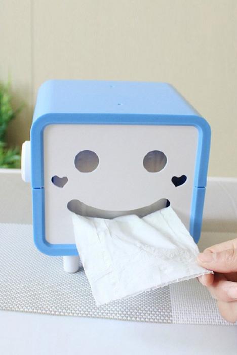 全国包邮 可爱卡通方形笑脸 卷纸纸巾抽 家用纸巾盒抽纸盒
