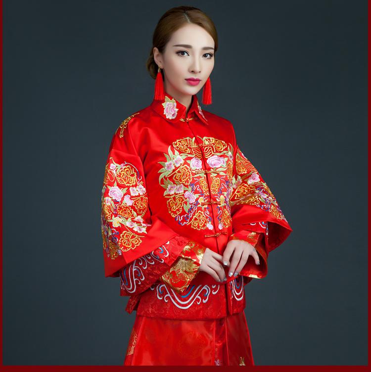 【秋冬凤冠霞帔秀禾服秀和服新娘礼服中式结婚古装喜图片