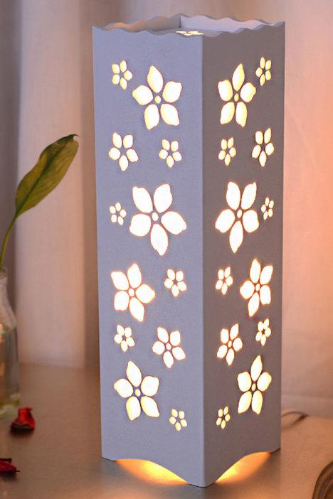 【可调光欧式雕花装饰节能台灯】-家居-小夜灯