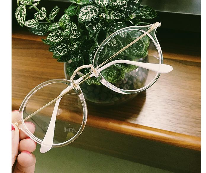 韩国ulzzang复古金属简约日系软妹原宿眼镜情侣圆形框架