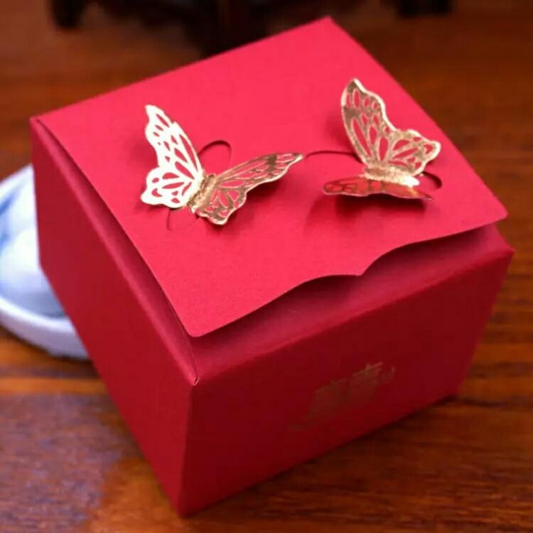婚庆用品结婚喜糖盒子立体蝴蝶创意喜糖纸盒子费列罗糖盒批发小号