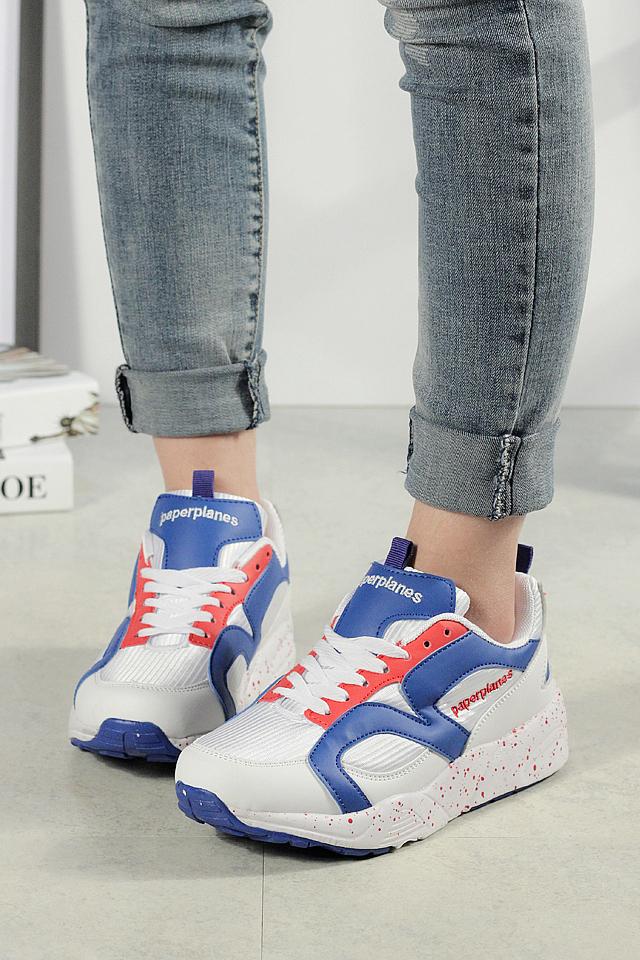 【韩国纸飞机 学院风小清新厚底运动鞋】-鞋子-其他