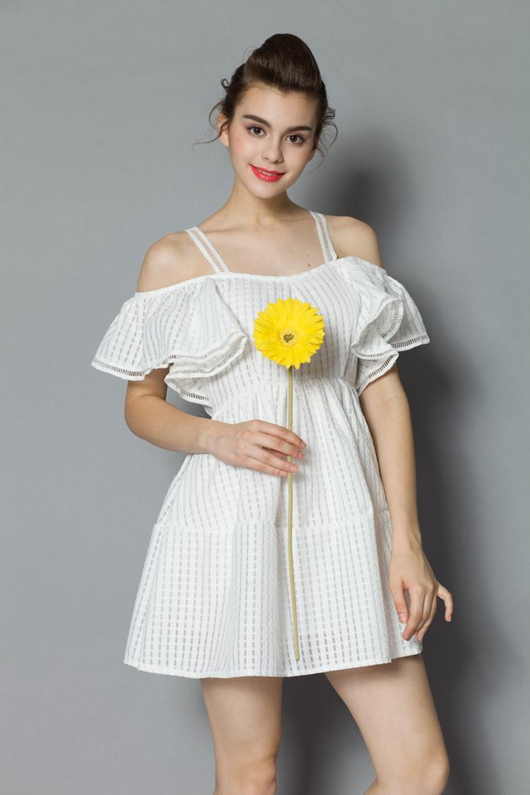 夏季新款韩国可爱公主露肩连衣裙】-衣服