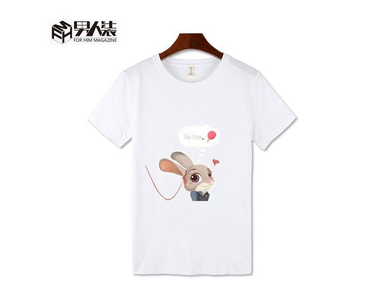 【疯狂动物城同款狐狸兔子短袖t恤衣服卡通动漫可爱