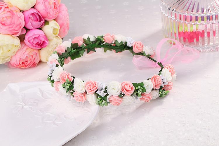 韩式森系写真头饰头环 新娘伴娘婚纱写真皇冠发环