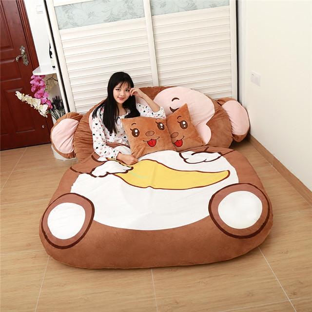 【送抱枕2个】床垫子 加厚 懒人沙发床 卡通 可爱 榻榻米
